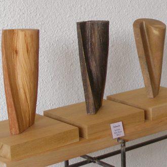 Drehwuchs - Kiefer – Bronze – Speckstein - 2004/2006 - ca. 15 x 15 x 30 cm