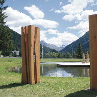 Drei Kubikmeter Wald - Eiche Standort Davos/CH - 2010