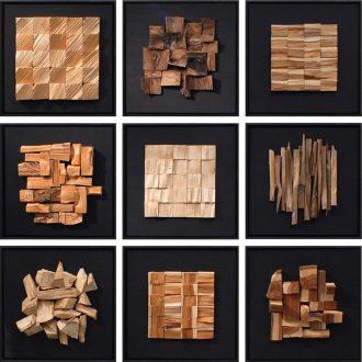 Holzlandschaften - Variation mit neun Hölzern