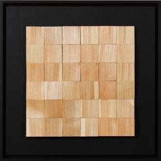 Holzlandschaft Lärche II - gespaltenes Holz auf Trägerplatte - 2009 - 52 x 52 cm