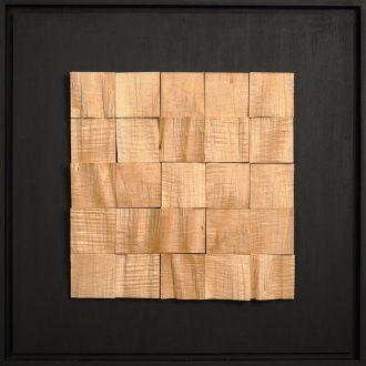 Holzlandschaft Zuckerahorn - gespaltenes Holz auf Trägerplatte - 2009 - 52 x 52 cm