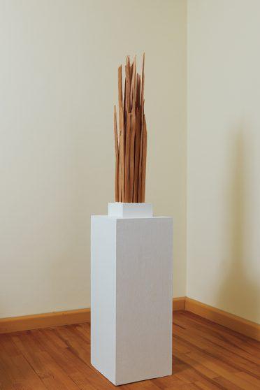 Spreisel I - gespaltene Lärche - 2011 - 80 x 12 x 12 cm