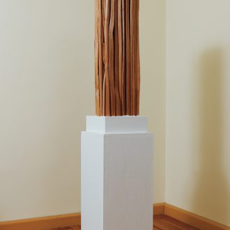 Spreisel II - gespaltene Lärche - 2011 - 75 x 20 x 20 cm