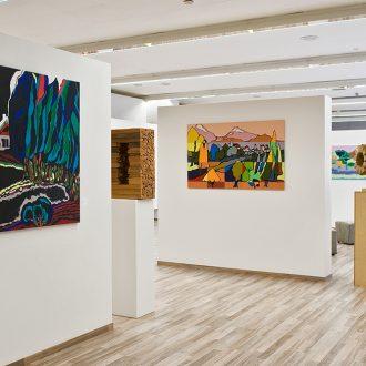 Baumsichten - Blick in die Ausstellung